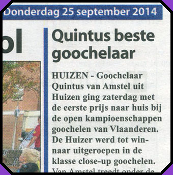"Newspaper: ""Quintus is the best magician"""